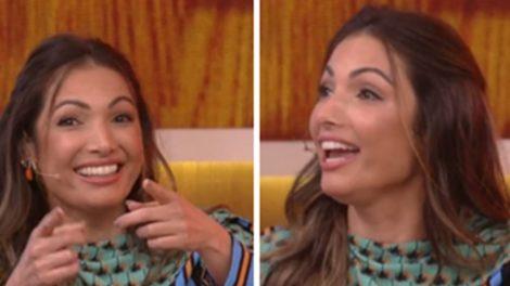 Patrícia Poeta divertiu o público ao soltar a voz ao vivo na Globo (Foto: Montagem/TV Foco)