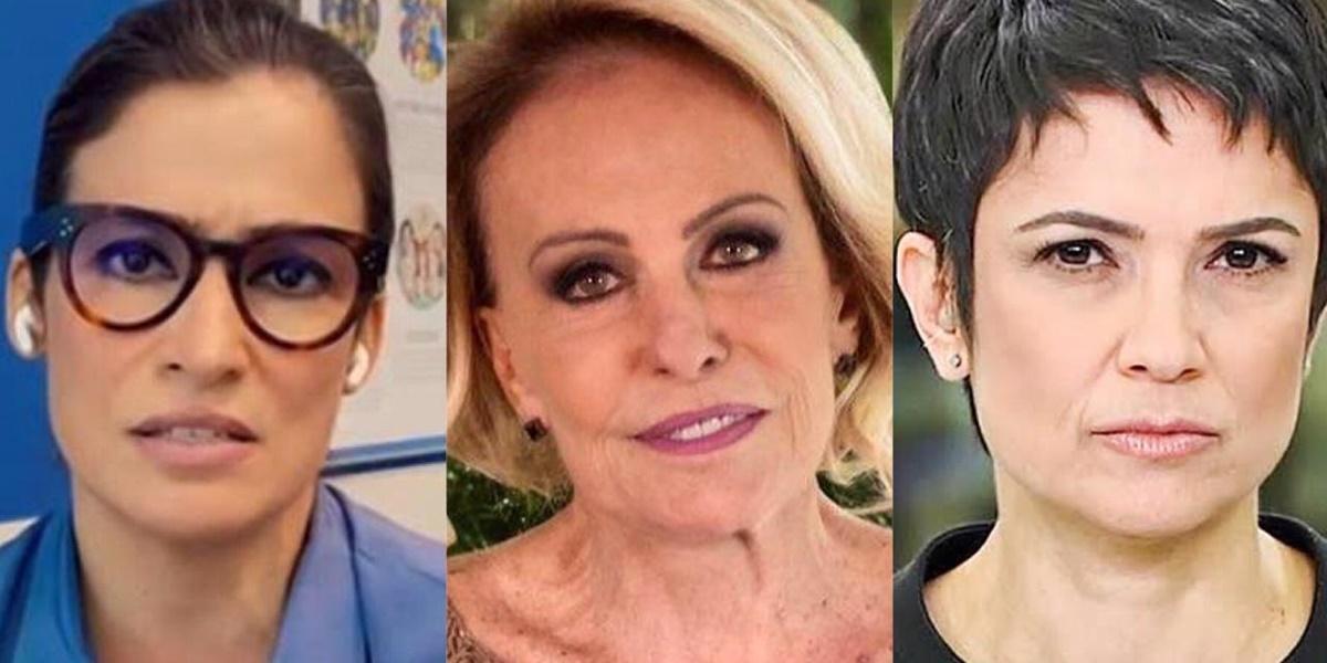 Renata Vasconcellos, Ana Maria Braga, Sandra Annenberg