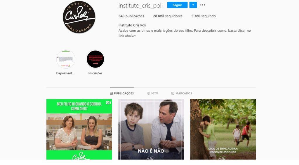 Instagram de Cris Poli, Supernanny (Foto: Montagem)