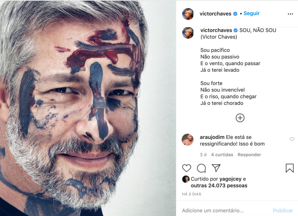 Captura de tela de post do Instagram de Victor Chaves (Foto: Reprodução)