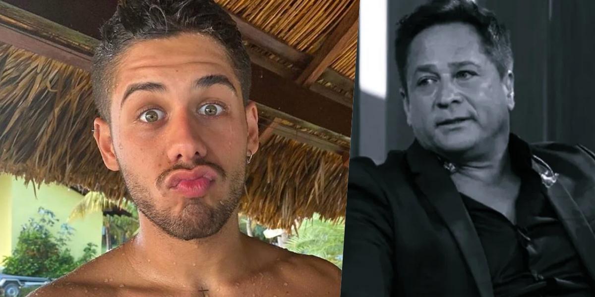 Zé Felipe com Leonardo (Foto: Montagem)