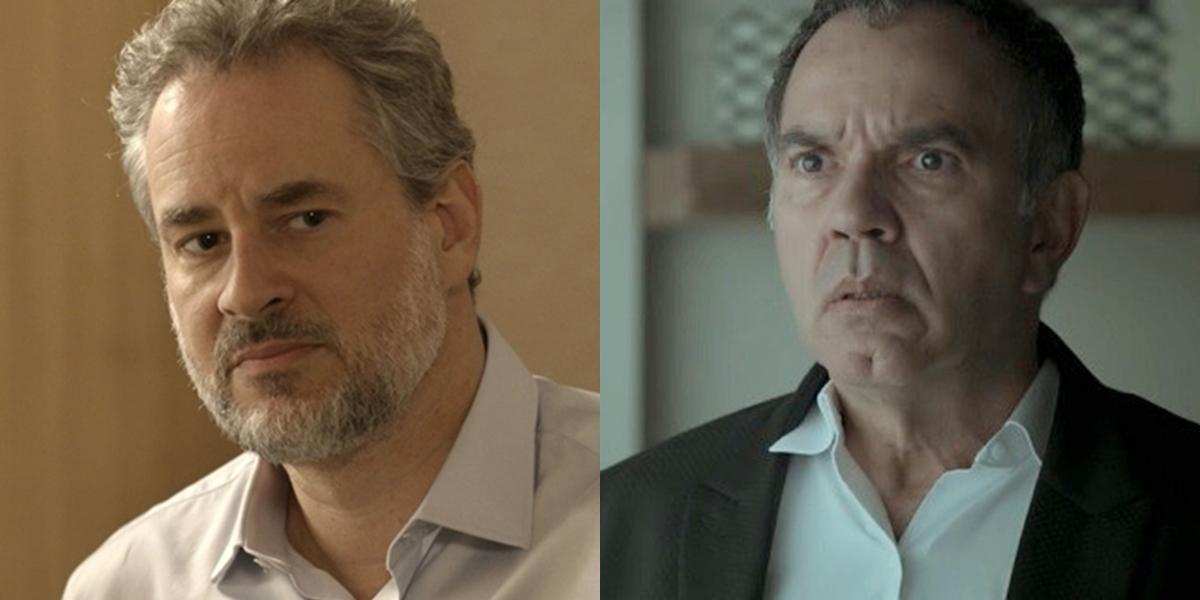 Eugênio (Dan Stulbach) e Eurico (Humberto Martins) em A Força do Querer (Foto: Reprodução/Globo)