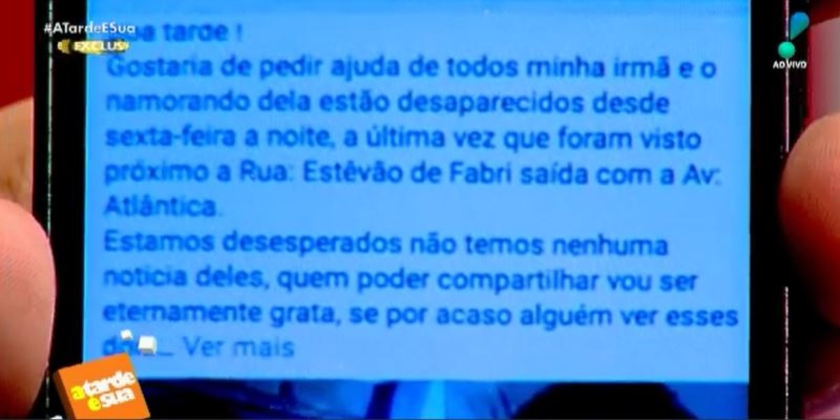 Dudu Camargo encaminhou print ao programa A Tarde é Sua (Foto: Reprodução/RedeTV!)