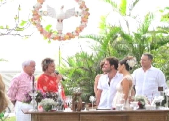Ana Maria Braga em casamento do filho Bruno Maffei (Foto: Reprodução)