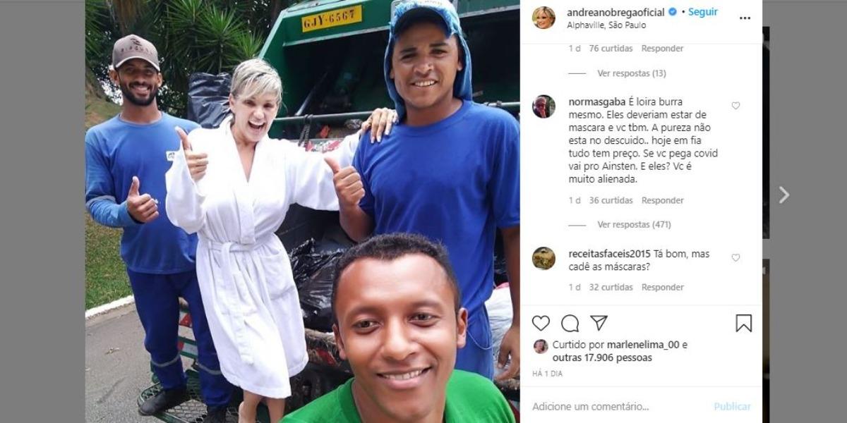 Andréa Nóbrega foi criticada por foto (Foto: Reprodução/Instagram)