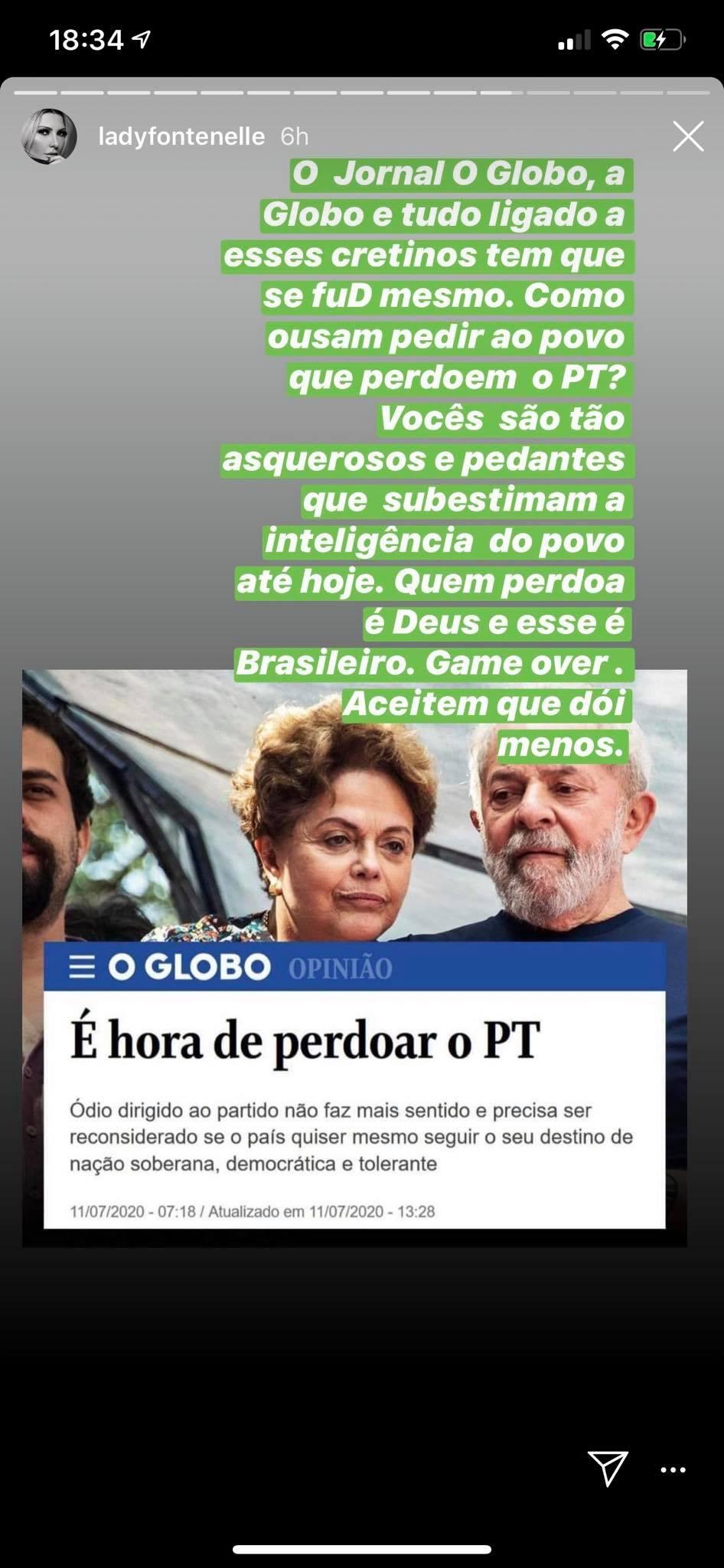 Fontenelle falou o que quis da Globo (Foto: Reprodução/ Instagram)