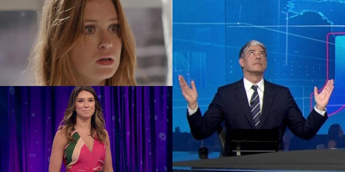 Totalmente Demais, Jornal Nacional e Roda a Roda Jequiti foram destaques de audiência (Foto: Reprodução/TV Globo/SBT)
