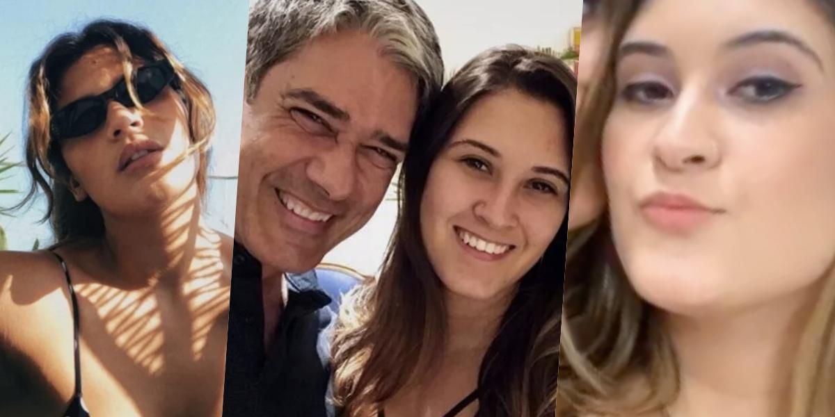 Bia Bonemer, filha de William Bonner, é amiga de Giulia Costa (Foto montagem: TV Foco)