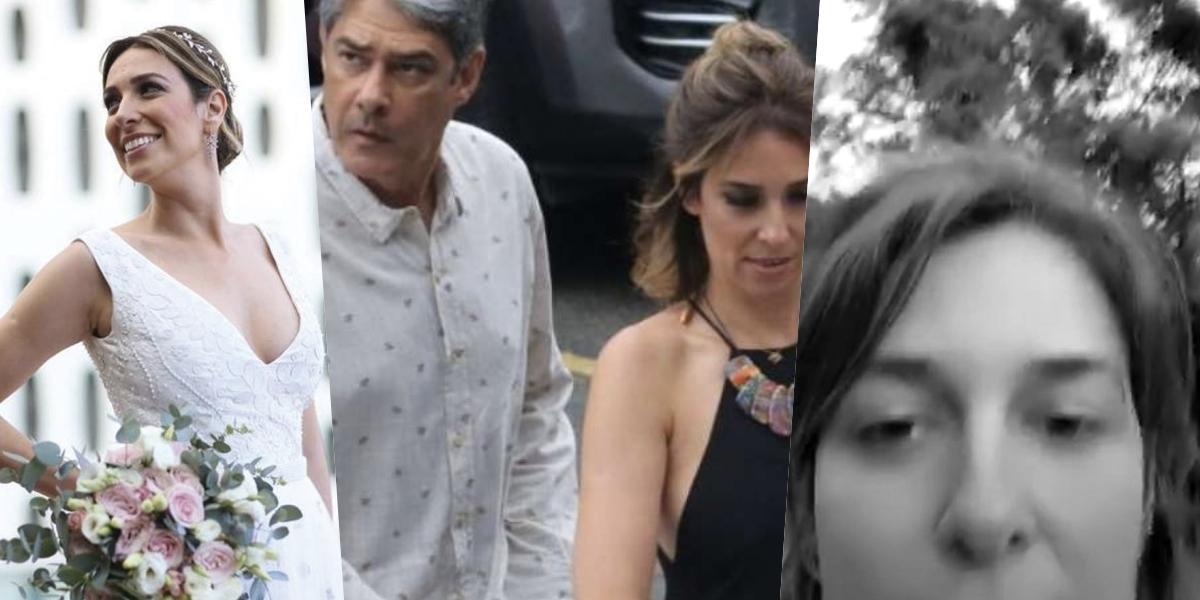 A esposa de William Bonner foi exposta (Foto montagem: TV Foco)