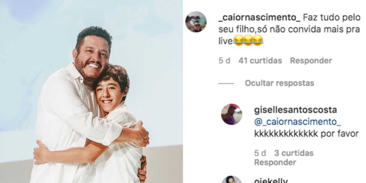 Bruno, da dupla com Marrone, posou com o filho, Enzo (Foto: Reprodução/Instagram)