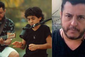Bruno, da dupla com Marrone, e seu filho, Enzo (Foto: Reprodução/YouTube/Instagram)
