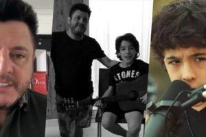 Bruno, da dupla com Marrone, é pai de Enzo Rabelo (Foto montagem: TV Foco)