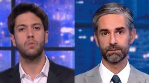 Caio Coppolla e Augusto Botelho trabalham no Grande Debate (Foto: Reprodução/CNN Brasil)
