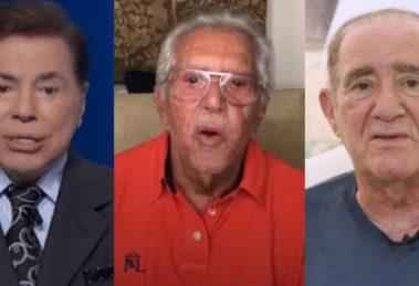 Silvio Santos, Carlos Alberto de Nóbrega e Didi (Foto: Reprodução/SBT/Instagram/TV Globo)