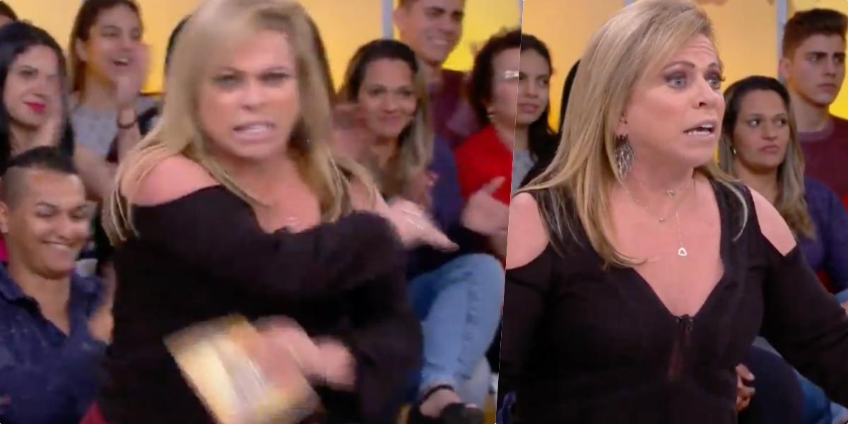 Christina Rocha, ao vivo, no Casos de Família, perdeu as estribeira com convidada (Foto montagem)