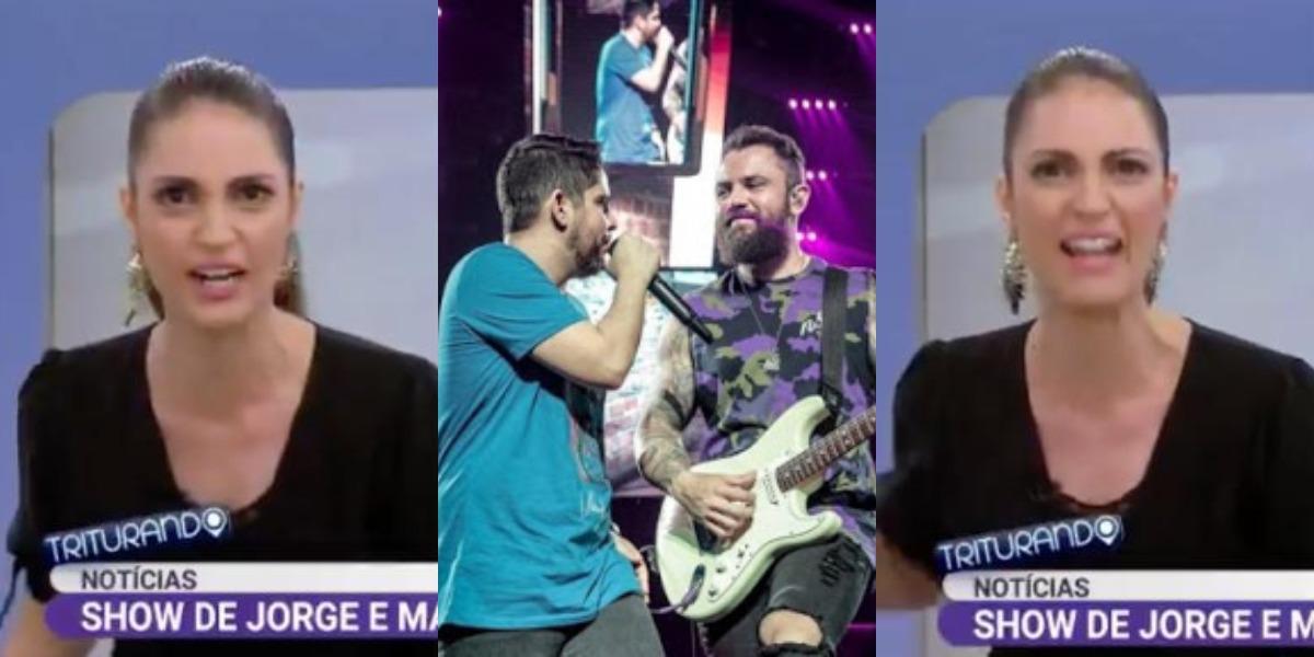 Chris Flores detonou as pessoas que compareceram ao show de Jorge e Mateus no Triturando (Fotos: Reprodução/SBT/Divulgação)