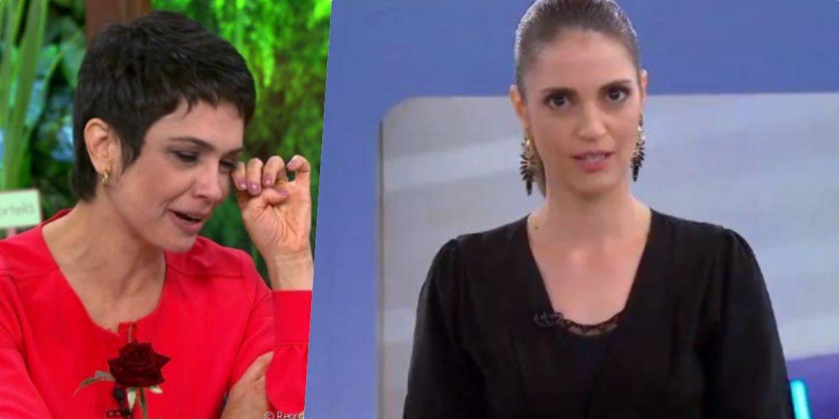 Chris Flores e Sandra Annenberg possuem personalidades parecidas (Foto: Reprodução/TV Globo/SBT)
