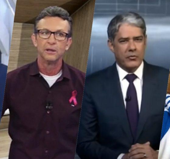 Datena, Bacci, Bonner e Neto receberam previsões (Foto montagem: TV Foco)