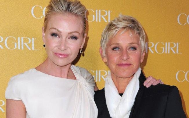 Ellen DeGeneres e Portia de Rossi (Foto: Reprodução)