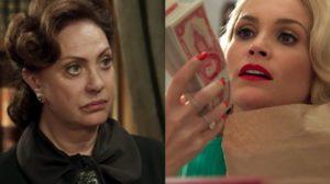Anastácia (Eliane Giardini) flagra Sandra (Flávia Alessandra) roubando cofre em Eta Mundo Bom (Foto: Reprodução/Globo)