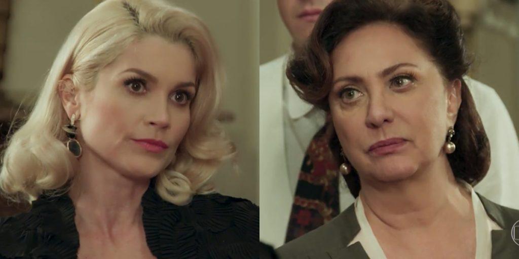 Flávia Alessandra (Sandra) e Eliane Giardini (Anastácia) em cena de Eta Mundo Bom, que teve audiência recorde no Vale a Pena Ver de Novo (Foto: Reprodução/Globo)