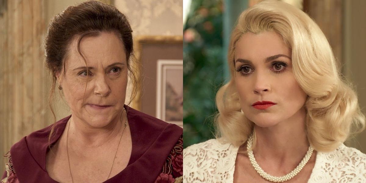 Cunegundes (Elizabeth Savala) se revoltará ao ser expulsa por Sandra (Flávia Alessandra) (Foto: Reprodução/Globo)