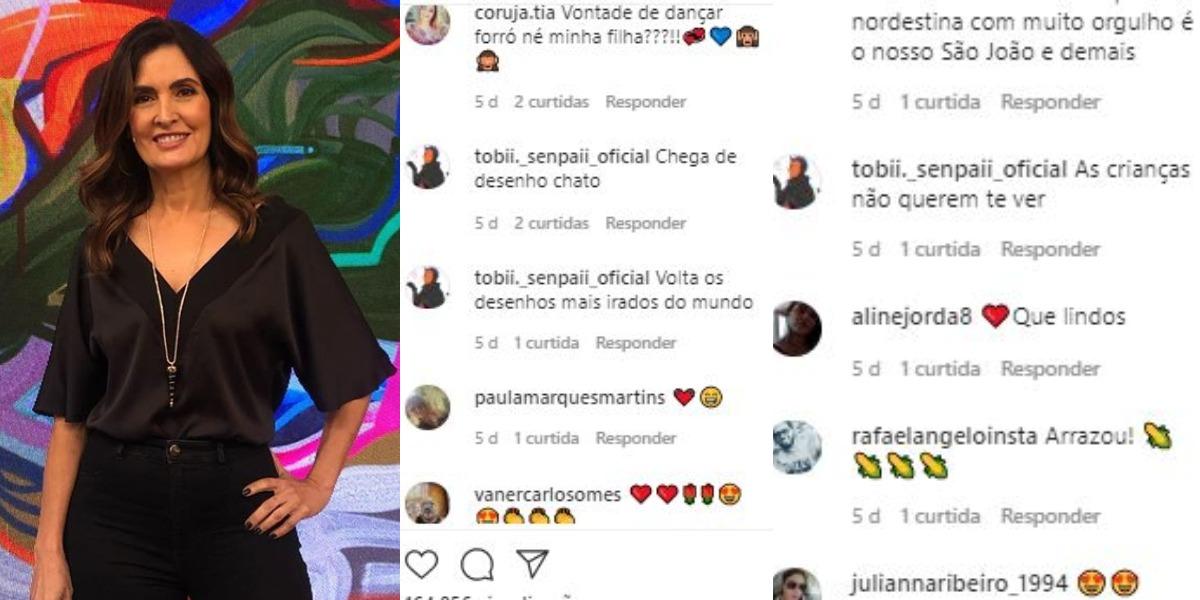 Fátima Bernardes recebeu críticas de internauta (Foto: Reprodução/Instagram)