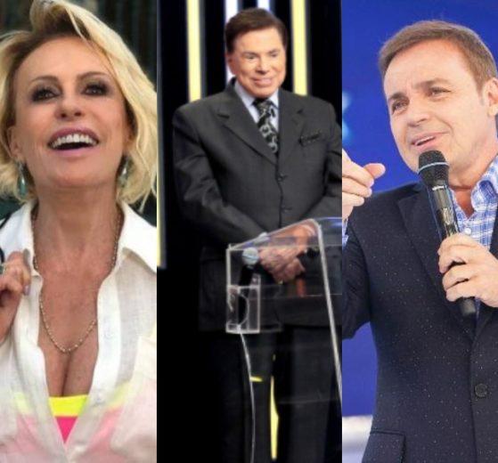 Faustão, Ana Maria Braga, Silvio Santos, Gugu e Xuxa possuem os maiores salários da TV (Foto: Reprodução/TV Globo/Instagram/SBT/Record/Instagram)