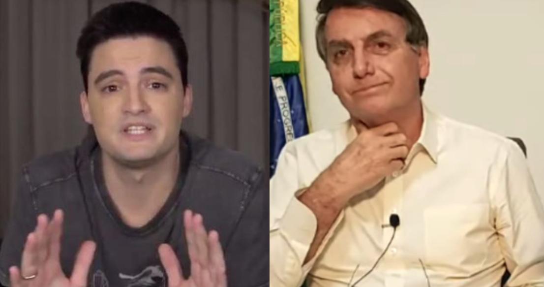 Felipe Neto não quer ser associado a Bolsonaro (Foto: Montagem)