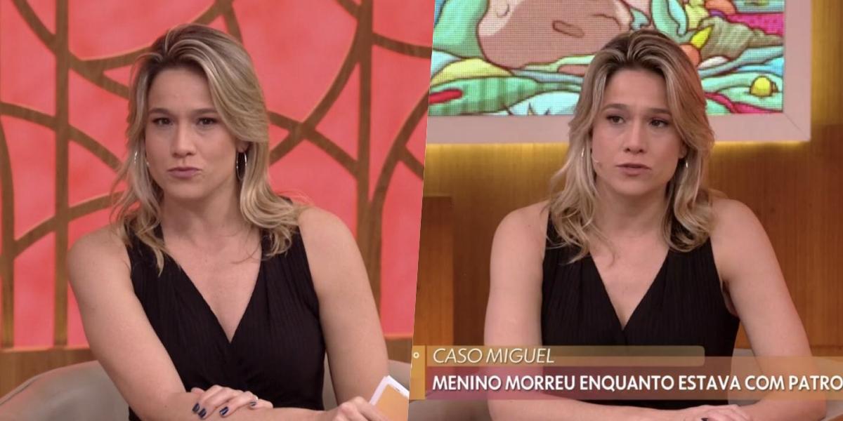 Fernanda Gentil estreou no 'Encontro' (Foto: reprodução/Globo)