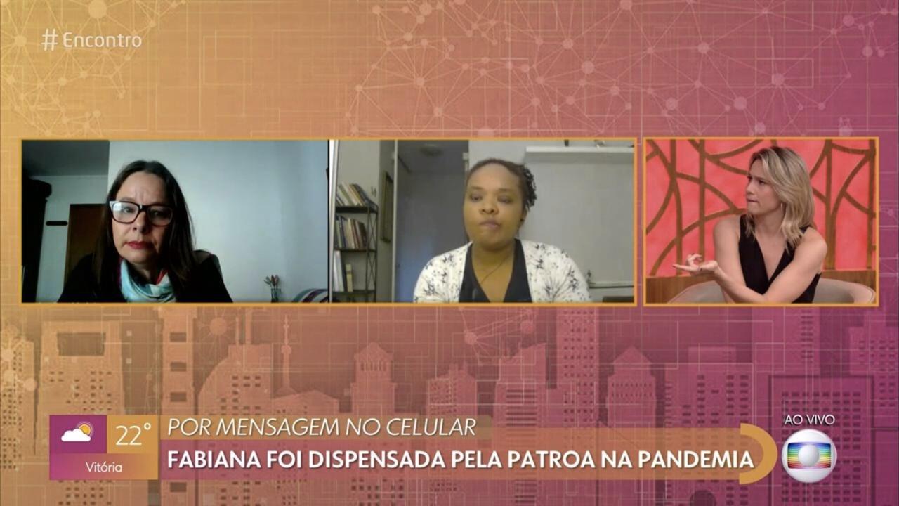 Fernanda Gentil no 'Encontro' (Foto: reprodução/Globo)