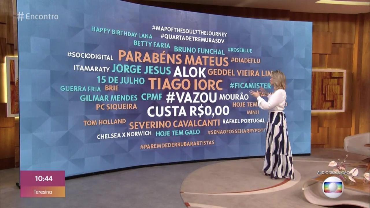 Fernanda Gentil falou sobre a suposta foto íntima de Tiago Iorc (Foto: reprodução/Globo)