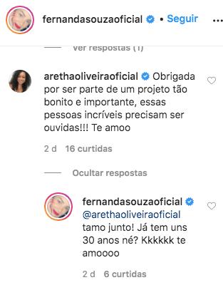 Fernanda Souza chutou sua intimidade e compartilhou um momento íntimo (Foto: reprodução/Instagram)