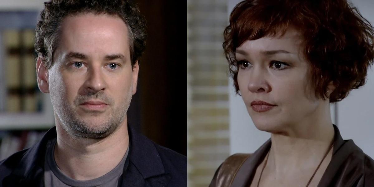 Paulo (Dan Stulbach) será obrigado a cuidar da filha de Esther (Julia Lemmertz) em Fina Estampa (Foto: Reprodução/Globo)
