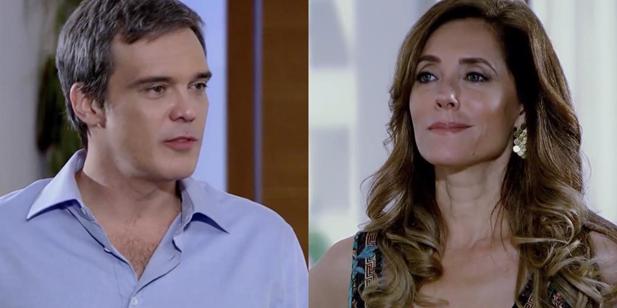 René (Dalton Vigh) volta a morar com Tereza Cristina (Christiane Torloni) em Fina Estampa (Foto: Reprodução/Globo)