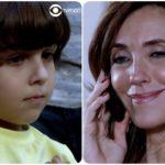 Fotomontagem dos personagens Quinzinho e Tereza Cristina da novela Fina Estampa