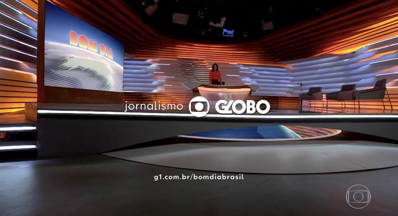 Ana Paula Araújo foi surpreendida no 'Bom Dia Brasil' (Foto: reprodução/Globo)