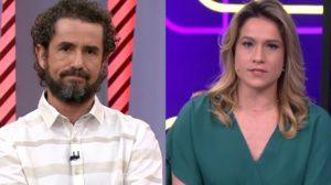 Felipe Andreoli no Globo Esporte e Fernanda Gentil no Se Joga; programas correm risco de sair do ar (Foto: Reprodução/Globo)
