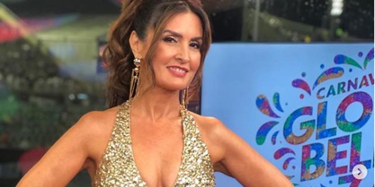 Fátima Bernardes no comando da transmissão do Carnaval do Rio na Globo; emissora suspendeu pagamentos às escolas de samba (Foto: Reprodução/Instagram)