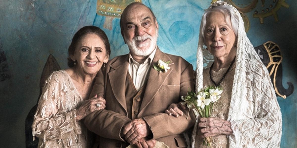 Laura Cardoso, Lima Duarte e Fernanda Montenegro em O Outro Lado do Paraíso; atores do grupo considerado como indispensável (Foto: Globo/Raquel Cunha)