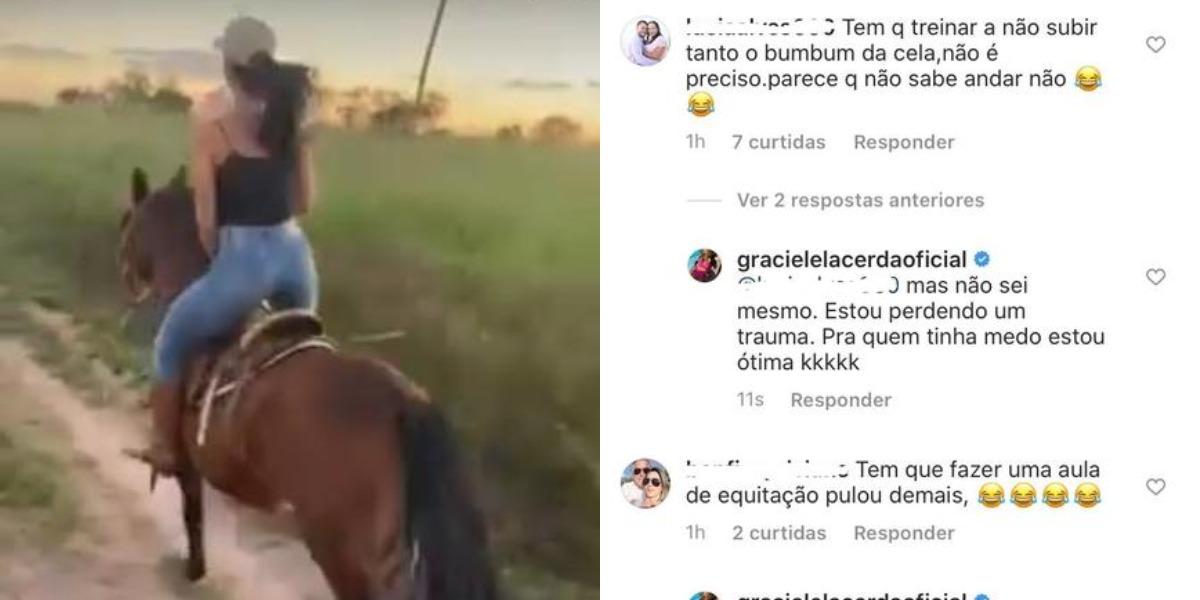 Graciele Lacerda foi detonada após divulgar vídeo (Foto: Reprodução/Instagram)