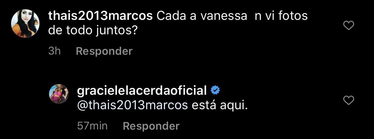 Graciele Lacerda respondeu um comentário sobre Wanessa (Foto: reprodução/Instagram)