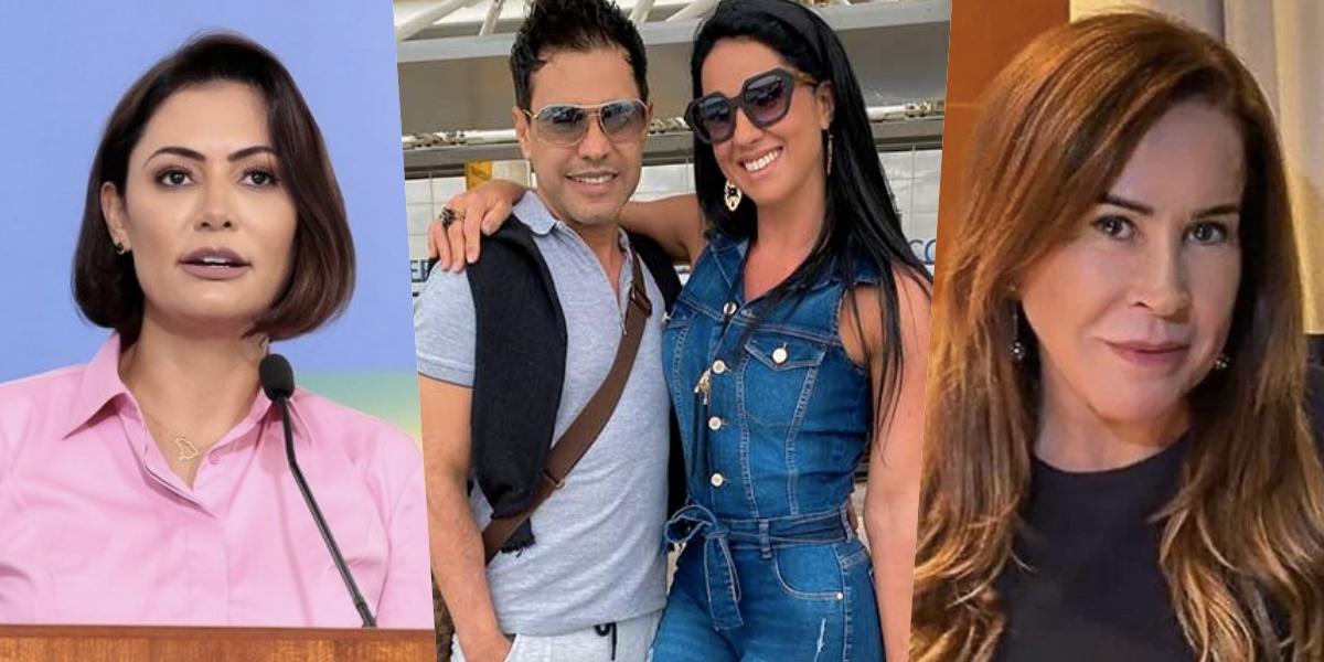 Graciele e Zezé receberam mensagem de Michelle Bolsonaro e Zilu foi envolvida (Foto montagem: TV Foco)