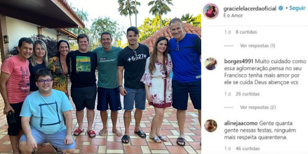 Graciele Lacerda foi 'cancelada' após festa na quarentena (Foto: Reprodução/Instagram)