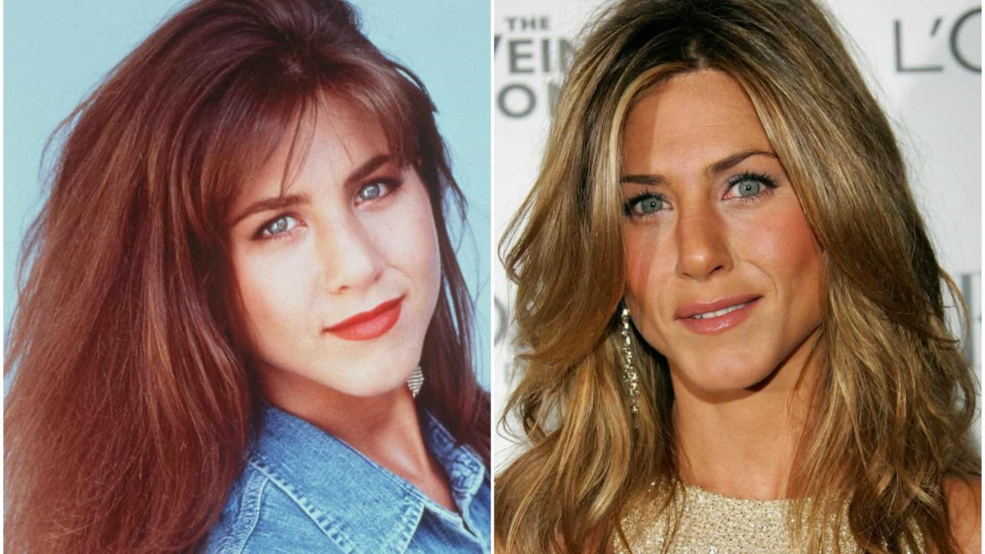 Jennifer Aniston antes e depois da fama (Foto: Reprodução)