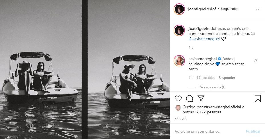 João Figueiredo e Sasha Meneghel estão separados por causa da pandemia (Foto: Reprodução/ Instagram)