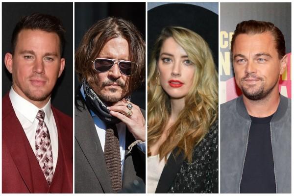 Johnny Depp, Amber Heard, Channing Tatum e Leonardo DiCaprio (Foto: Reprodução)