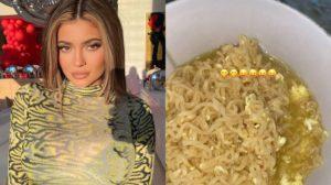 Kylie Jenner compartilha Stories comendo miojo e surpreende à web (Foto: Reprodução)