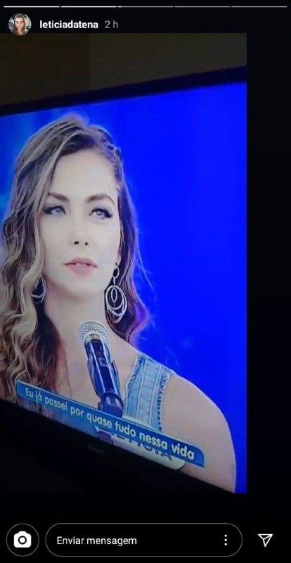Letícia Datena surgiu no Programa Silvio Santos, no SBT (Foto: Reprodução)