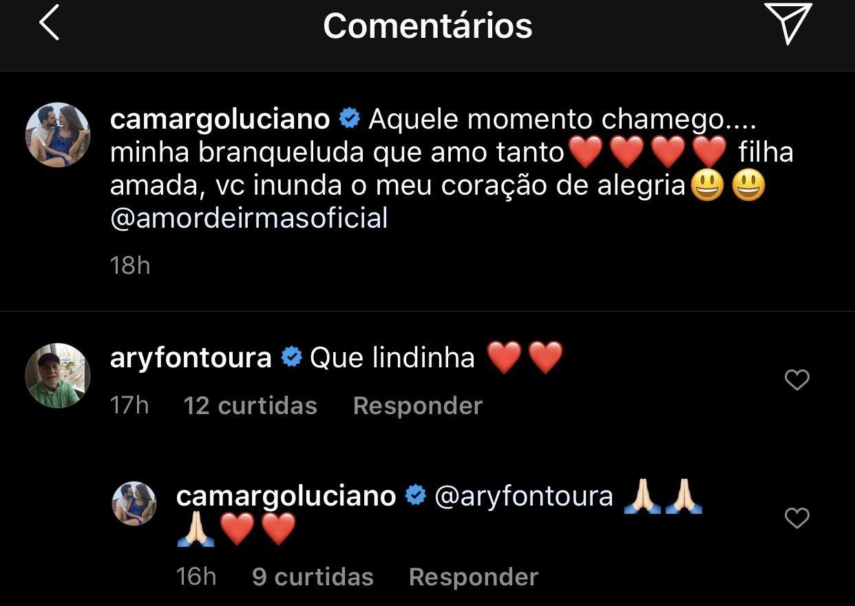 Luciano Camargo respondeu Ary Fontoura (Foto: reprodução/Instagram)